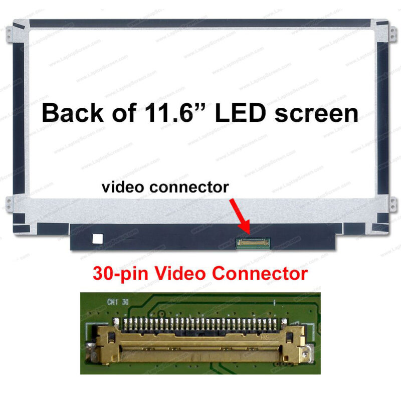 "Original 11.6"" LED Panel 30Pin Left/Right Slim N116BGE-EA2"