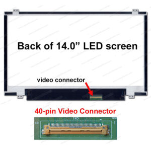 14 LED Panel 40 Pins Slim B140XW03  v.0  /  N140BGE-L42  /  HB140WX1-300
