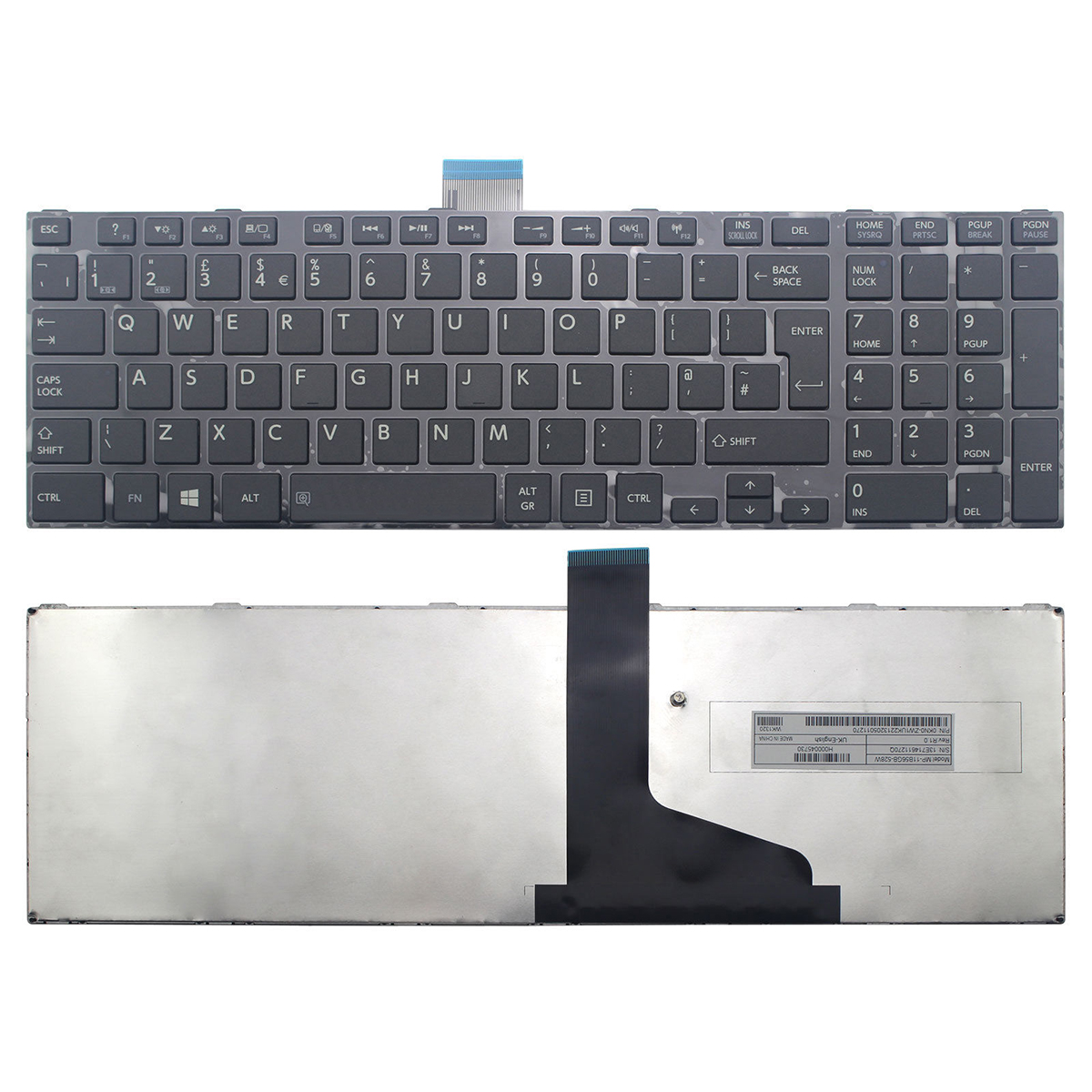 Toshiba C850 Keyboard Black