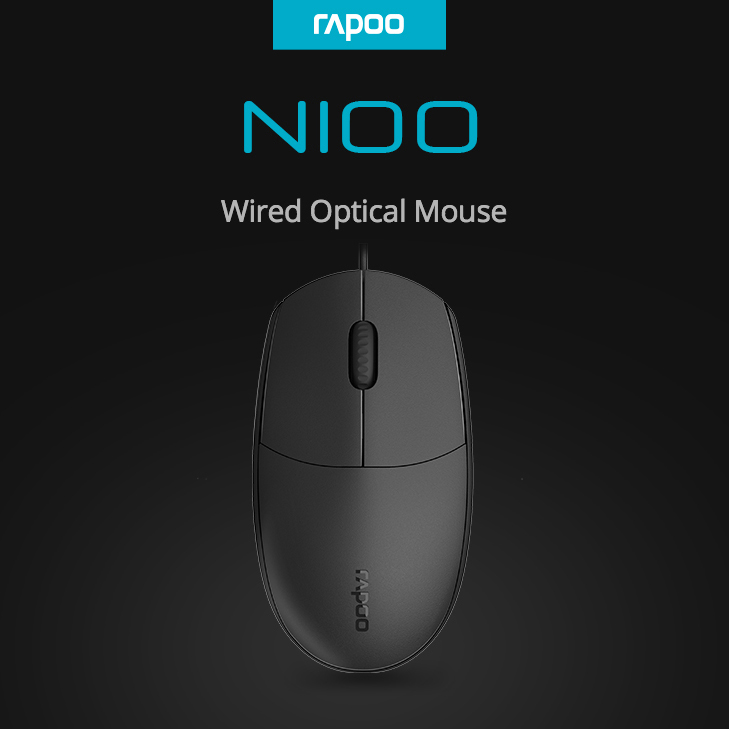 Rapoo N100 Wired Optical Mouse with 1600DPI