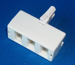 BT Telephone Jack Triple Adapter