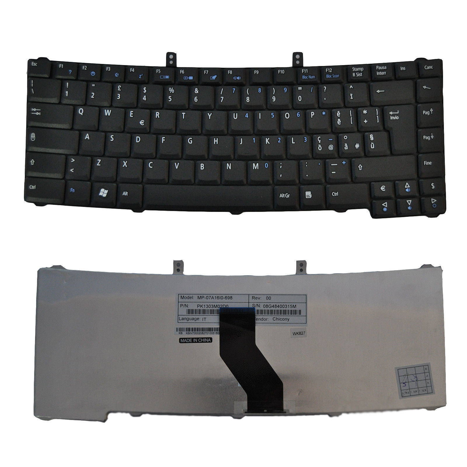 Laptop Keyboard Acer 4150