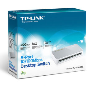 TP-Link TL-SF1008D 8-Port Fast Ethernet 10/100Mbps Desktop Switch