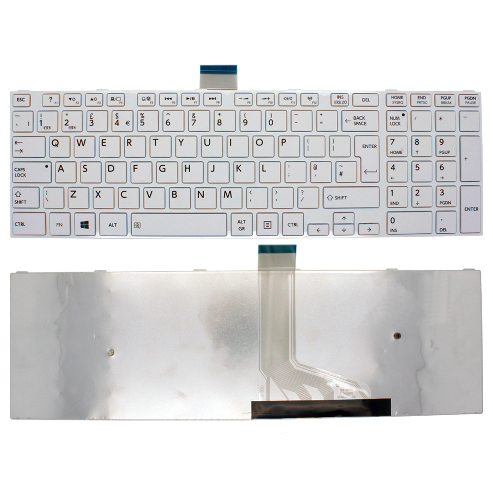 Toshiba Satellite C50D-A White Laptop Keyboard