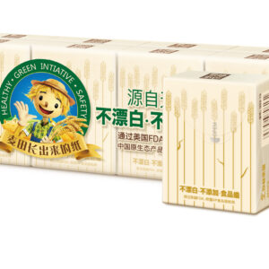 Wholesale-Wheat Straw Facial Tissue 60 Packs/CTN