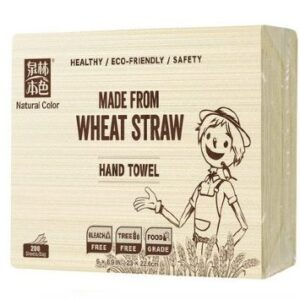 Wholesale-Wheat Straw Hand Towel 20 Packs/CTN