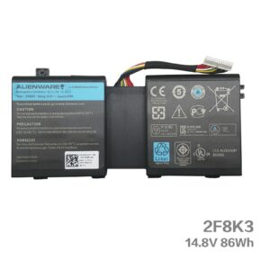 2F8K3 Battery For Alienware 86Wh