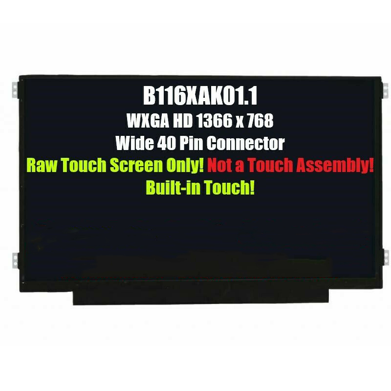 11.6'' 40pin LCD LED Touch Screen HD 1366*768