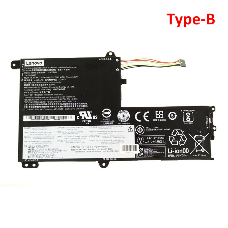 Original Lenovo L15M3PB0 L15C3PB1 Battery Type-B